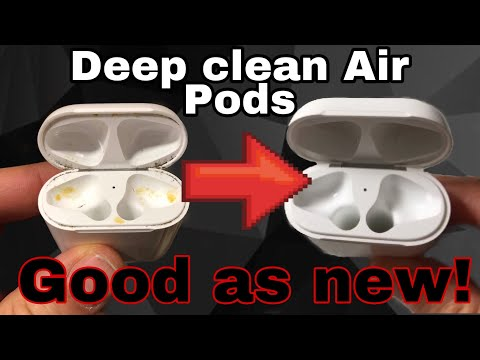 How to clean Airpods and case! Good as new! Get rid of magnetic dirt from case!!!