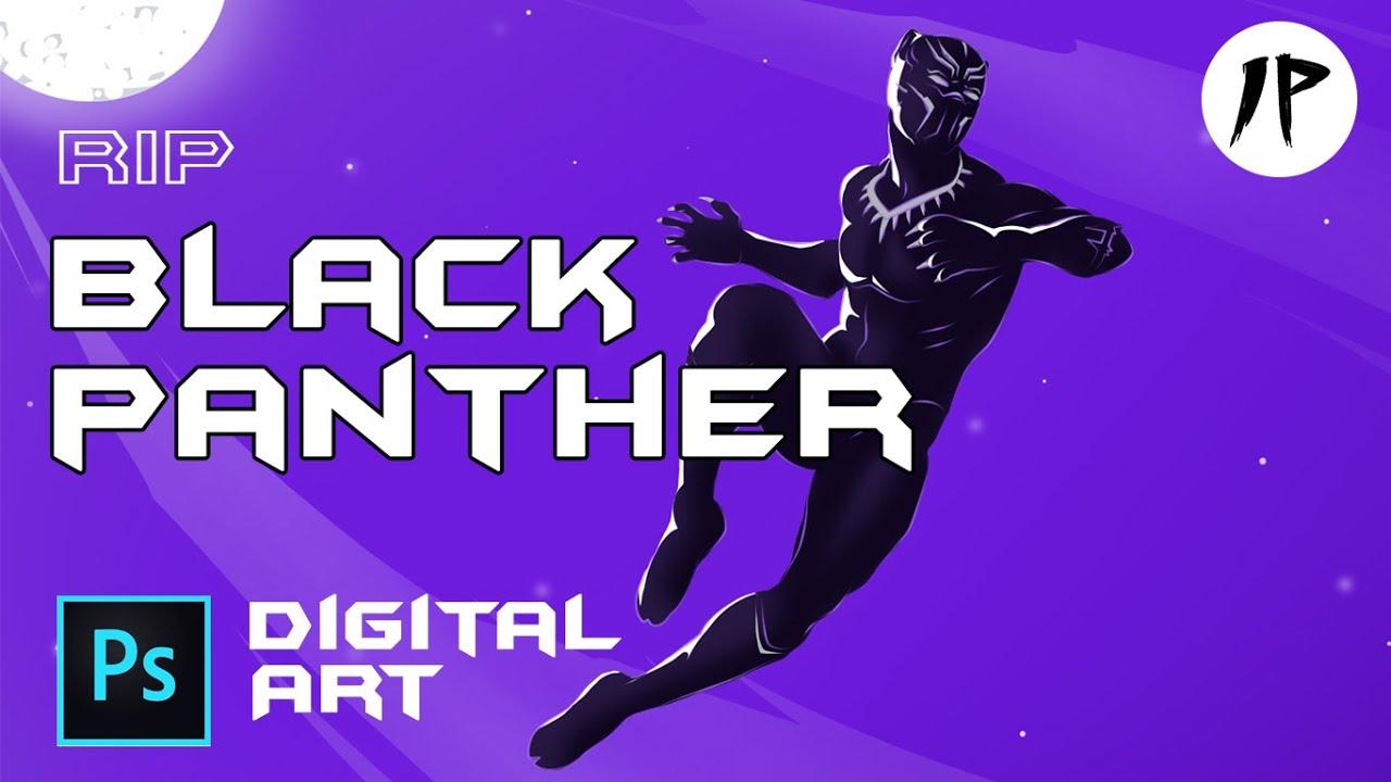 Black Panther Chadwick Boseman Digital Art Free Download Link In Description Youtube