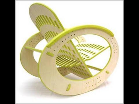 Смотреть онлайн кресло качалка из дерева своими руками