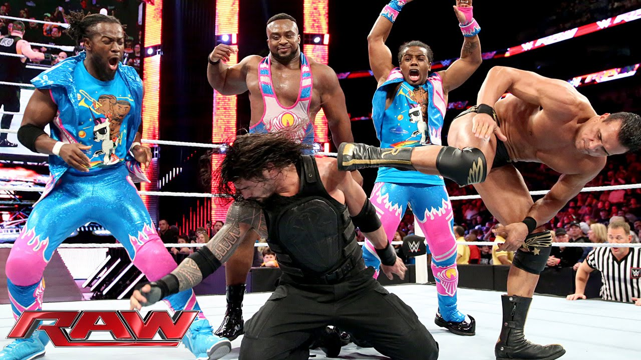 roman reigns competes in a one vs all match raw