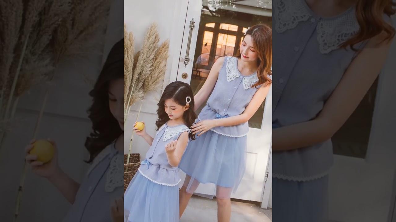 iKIDS♬2020夏季 新款 韓版 女童 童裝 中童 大童 超淑女風 公主 蝴蝶結 氣質 洋裝 親子裝(預購) - YouTube