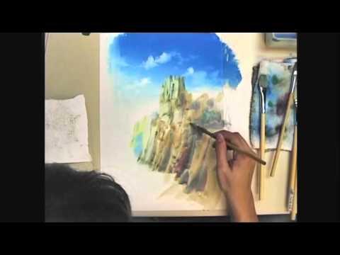 【アナログで描いてみたシリーズ 1】「崖」ポスターカラーでアニメ背景!, Japanese background animation