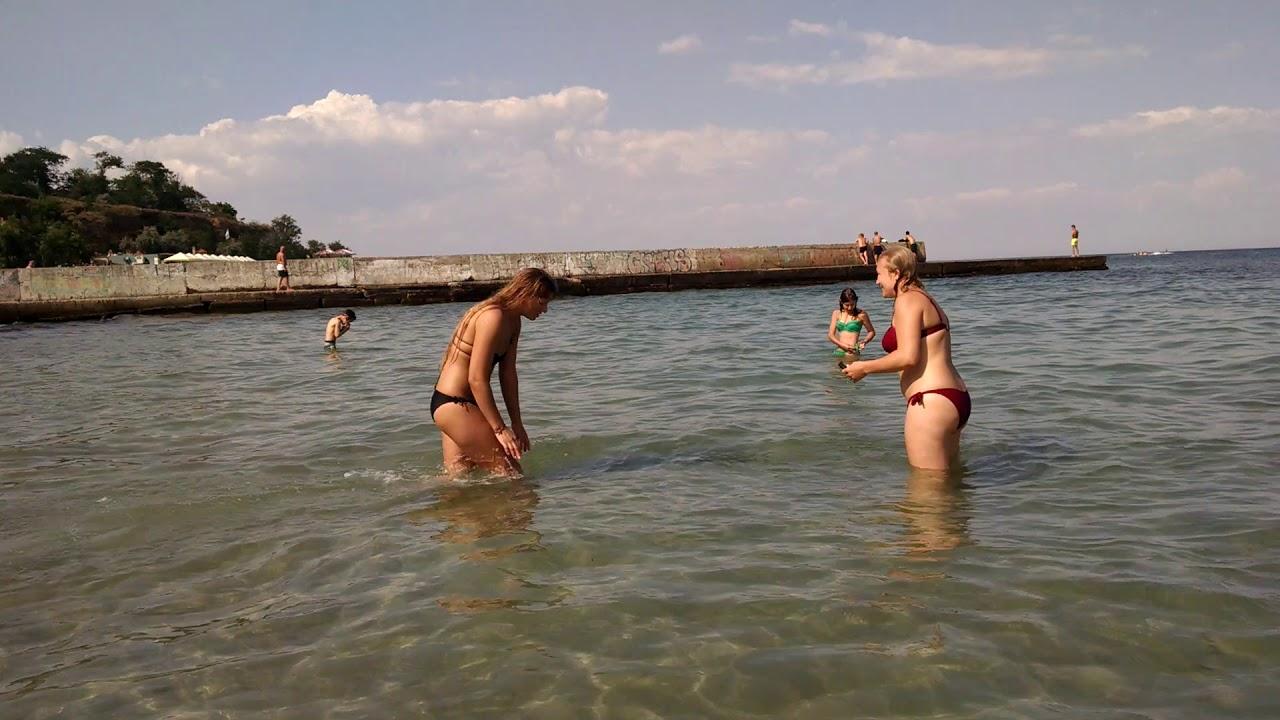 Одесситки На Диком Пляже