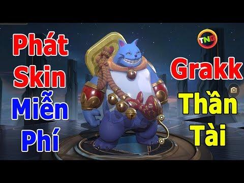 Liên quân phát SKIN miễn Phí 🎁 Grakk Thần tài đổi xu vàng lấy Tướng và Trang Phục TNG