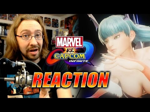 MAX REACTS: Morrigan & Captain America Reveal - Marvel Vs. Capcom Infinite