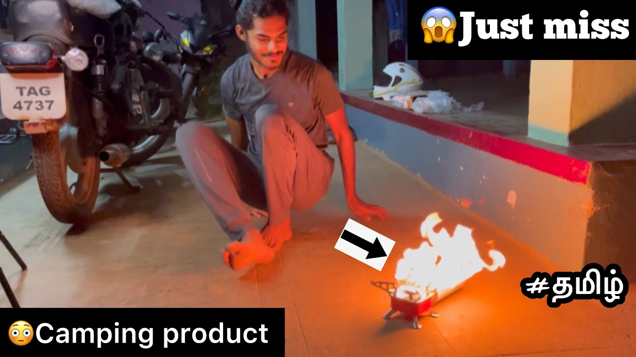 😳Just Miss |😱Camping product | Tamil | Fire | Gadgets | Traveling | Portable stove |