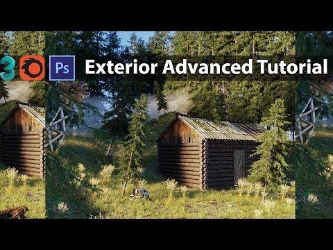3ds Max Corona Render Exterior Advanced Tutorial (Voice Over)