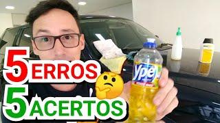 5 Erros na hora de lavar seu carro