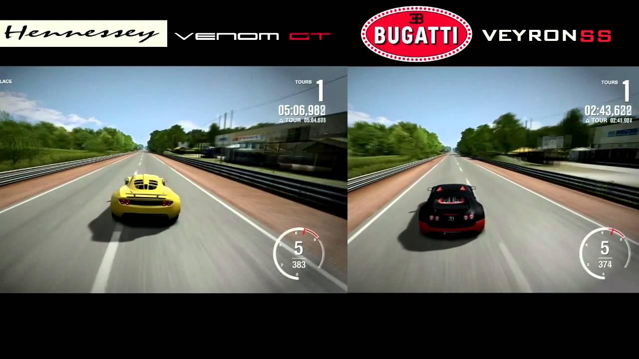 Forza Motorsport 4 Hennessey Venom Gt Vs Bugatti Veyron Ss