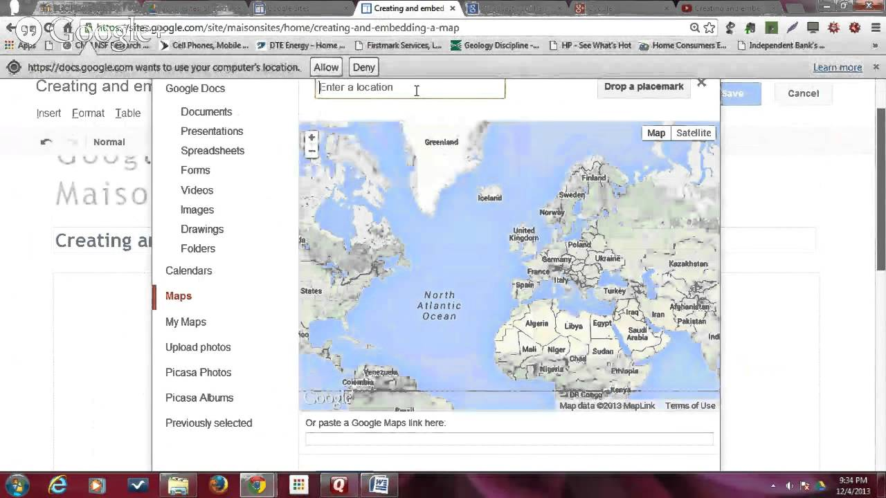 Download Creating and embedding a google map on a google site with Shawn Maison