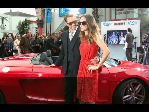 Iron Man 3 Premiere | Robert Downey Jr in his Audi R8 (HD) - Official Marvel India