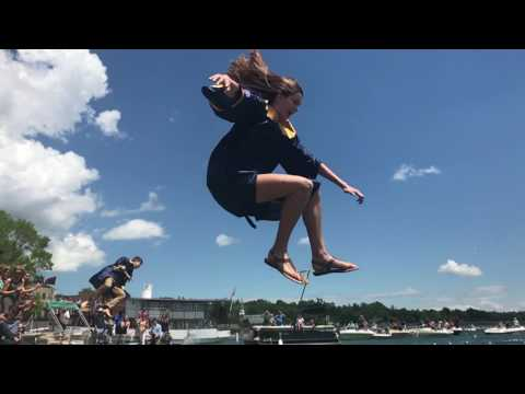 A Skaneateles High School tradition, jumping in the lake (video)