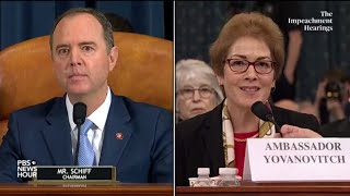 WATCH: Rep. Adam Schiff's full questioning of Amb. Yovanovitch | Trump impeachment hearings
