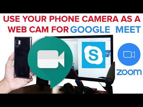 USE PHONE CAMERA AS WEB CAMERA FOR GOOGLE MEET   DROIDCAM FOR GOOGLE MEET