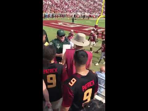 Video of Jimbo Fisher's Verbal Exchange with Fan After Louisville Game