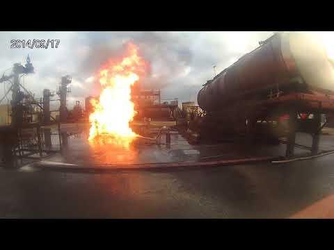 oefening gas brand 2 te falck risk europoort maasvlakte