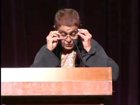 "Gayatri Spivak lecture, ""A Borderless World"" at The University of Arizona"