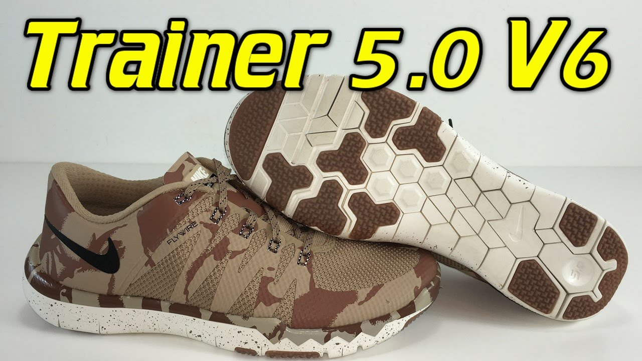 008763cbe0f47 Nike Free Trainer 5.0 V6 Desert Camo - Review + On Feet - YouTube