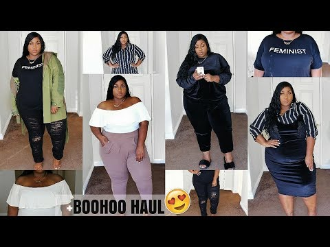 BOOHOO TRY ON HAUL! | FALL OUTFIT IDEAS | PLUS SIZE FASHION