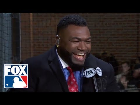 Big Papi reacts to Boston's Game 1 win over Los Angeles in the 2018 World Series | FOX MLB