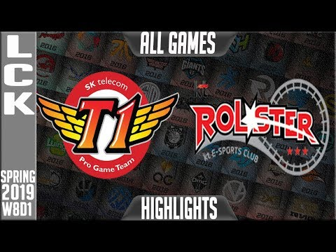 SKT vs KT Highlights ALL Games | LCK Spring 2019 Week 8 Day 1 | SKT Telecom T1 vs KT Rolster
