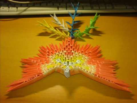 Origami 3d Tutorial The Phoenix Step By Step Block Folding Youtube