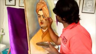 SWAMI VIVEKANANDA ART | Painted using Water colours -Time Lapse Video | Vishwakarma Arts