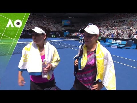 Ashleigh Barty & Casey Dellacqua on court interview (3R)  | Australian Open 2017