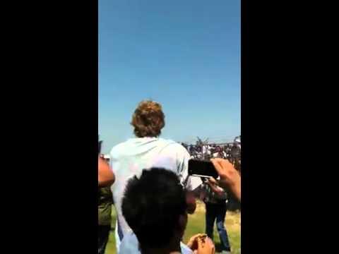 Dirk celebrating at Love Field