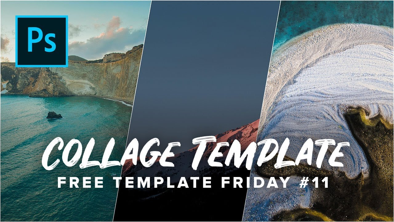 free photoshop collage template youtube