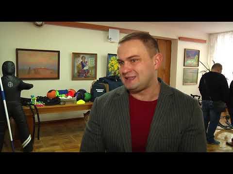 Суспільне Житомир: Житомирським спортсменам передали спорядження для тренувань