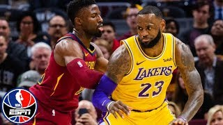 LeBron James leads Lakers in return to Cleveland vs. Cavaliers | NBA Highlights