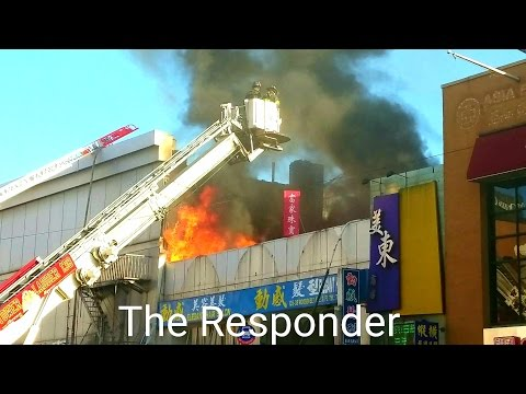 [FDNY] QNS 4 ALARM 5+ STORES HEAVY FIRE & PARTIAL COLLAPSE