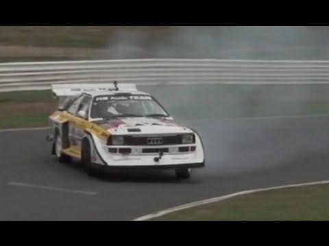 Audi Sport Quattro S1 Group B rally car hot lap
