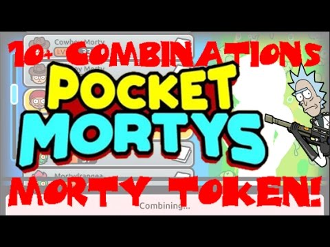 Pocket Morty - 10+ Combinations! First Morty Token! Super Unicorn Morty!
