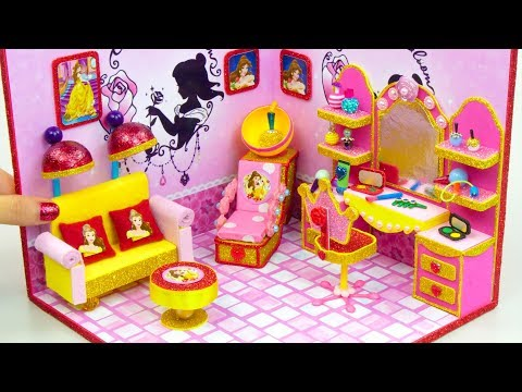 DIY Miniature Dollhouse Room ~ Belle Salon and Makeup