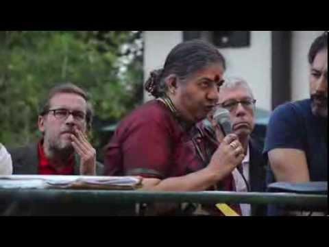Vandana Shiva contro i semi ogm a Pordenone