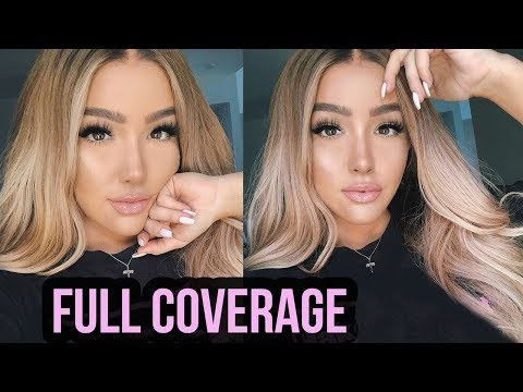 FULL COVERAGE FOUNDATION ROUTINE: Smooth Skin WITHOUT Facetune