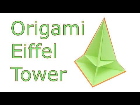 Origami Eiffel Tower Tutorial