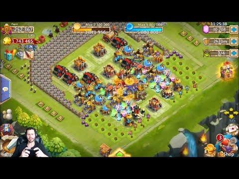 MONSTA 250k Might Rolling 30k Gems For GunSlinger Castle Clash