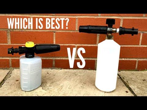 Karcher Foam Nozzle vs Aftermarket Foam Cannon | Which Should You Buy?