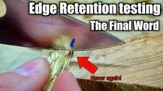 The ULTIMATE Edge Retention TEST / S30v vs 8cr13mov This WILL be surprising.