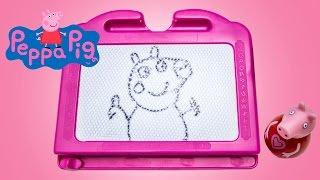Peppa Pig Magic Chalkboard Coloring Drawing Peppa Pig Pizarra Mágica Imagination Mini Whiteboard