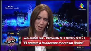 LA GOBERNADORA VIDAL REPUDIÓ EL ATAQUE A LA DOCENTE EN MORENO