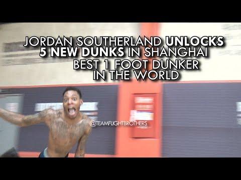 Jordan Southerland unlocks 5 NEW DUNKS!! Best 1 Foot Dunker in the WORLD!