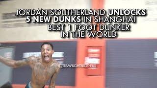 Jordan Southerland unlocks 5 NEW DUNKS!! Best 1 Foot Dunker in the WORLD! Video