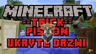 Minecraft Trick #018 - Sekretne Pistonowe Drzwi! Minecraft 1.8.1!