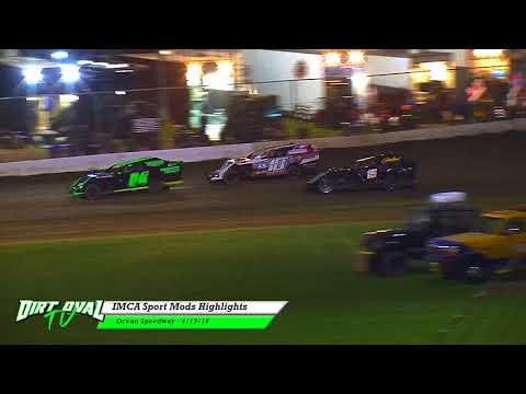 4-13-18 Ocean Speedway IMCA Sport Mods Highlights