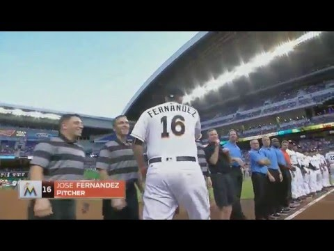 Miami Marlins 2016 Opening Day player introductions