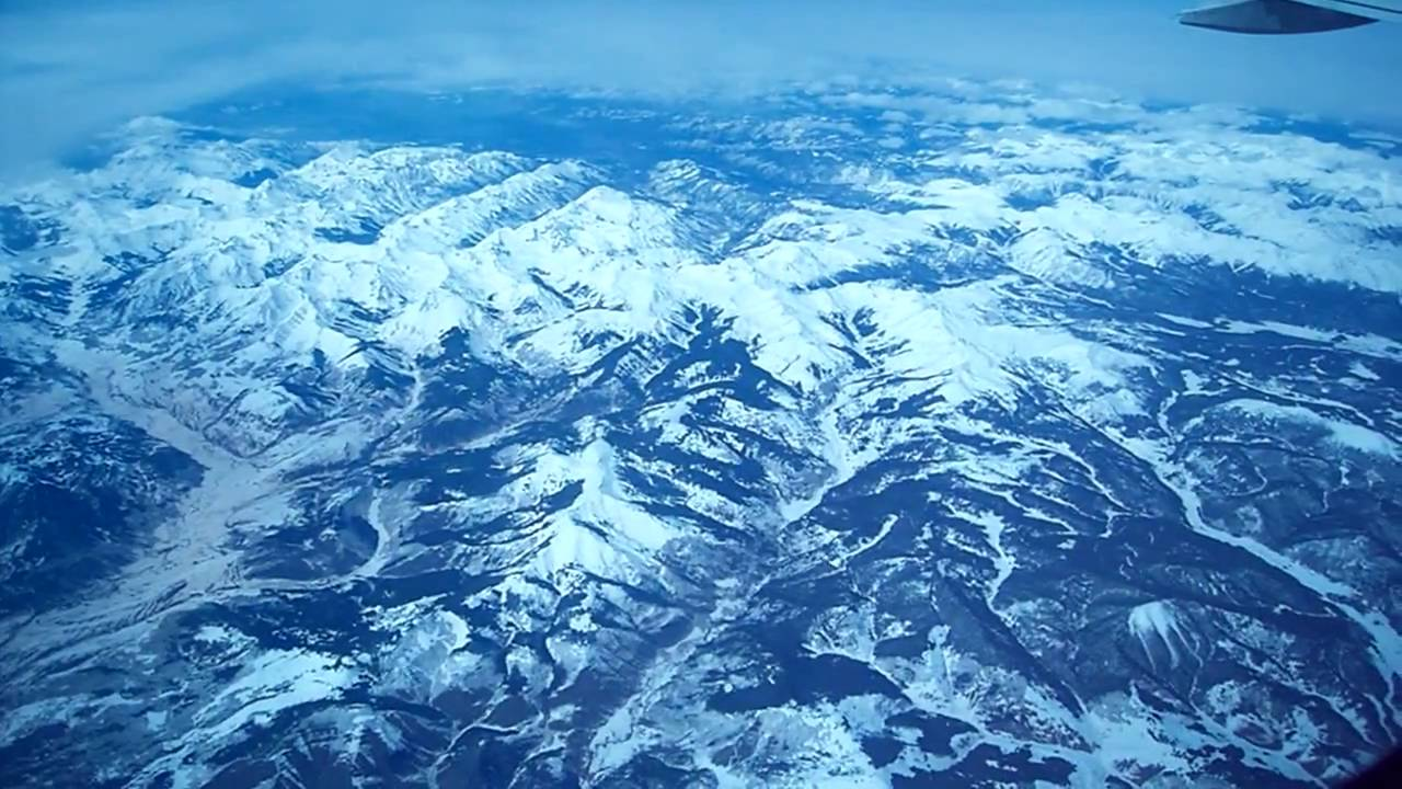 Aerial View of Rocky Mountains over Colorado - YouTube